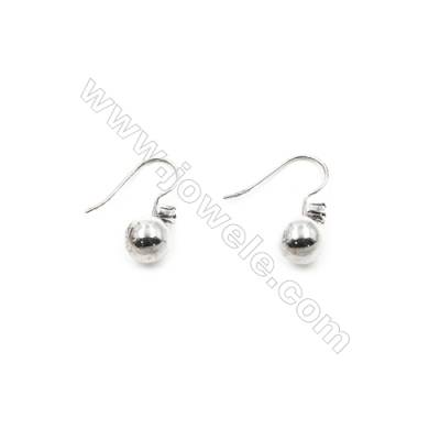 925 Sterling Silver Earring hook  Size 18x22mm  Pin 0.7mm  Hole 3mm  20pcs/pack