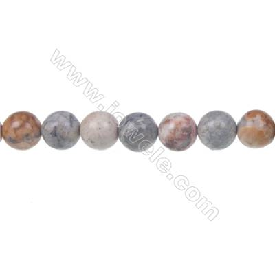 Sky eye jasper loose beads, Round, Diameter 8mm, Hole 1mm, 48 beads/strand, 15~16""