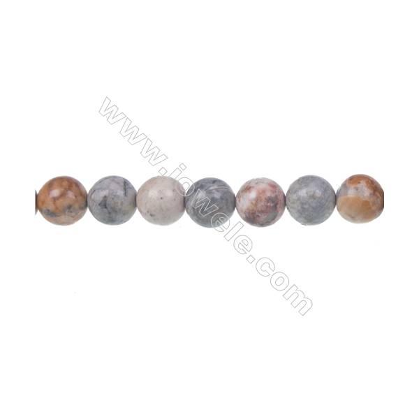 "Sky eye jasper loose beads, Round, Diameter 8mm, Hole 1mm, 48 beads/strand, 15~16"""