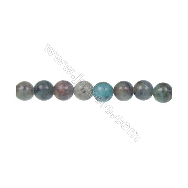 Natural african turquoise round loose beads 8mm jewelry  accessories making DIY  hole 1mm  50 beads/strand 15~16''