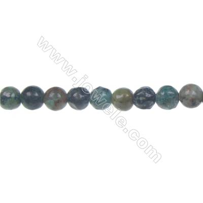 Natural African turquoise loose beads strand  Round  Diameter 6mm  Hole 1mm  65 beads/strand 15~16""