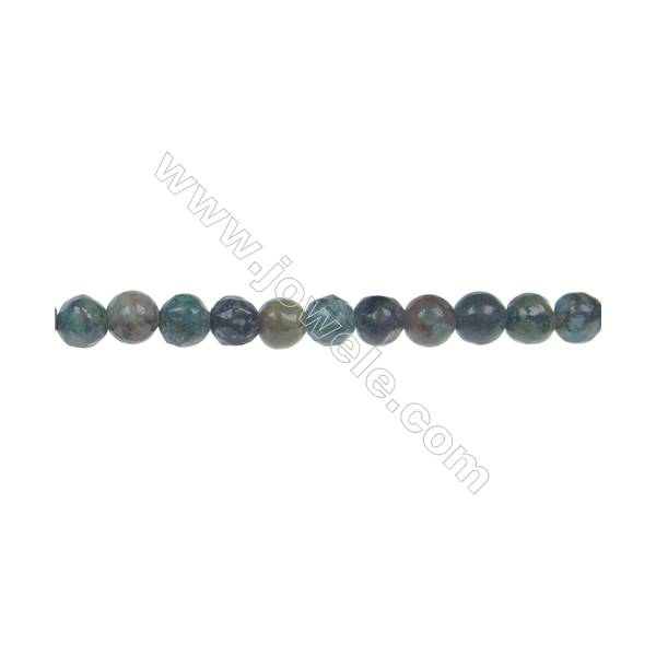 Natural African turquoise round loose beads 4mm jewelry  accessories making DIY  hole 0.8mm  109 beads/strand 15~16''