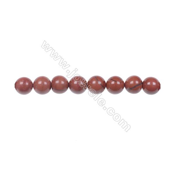 "8mm Red Jasper Beads natural stone beads Strand 15~16""  hole 1mm  49 beads /strand"