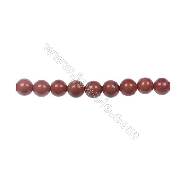 "6mm Red Jasper Beads natural stone beads Strand 15~16""  hole 1mm  62 beads /strand"