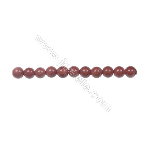 "4mm Red Jasper Beads natural stone beads Strand 15~16"" hole 0.8mm  96 beads /strand"