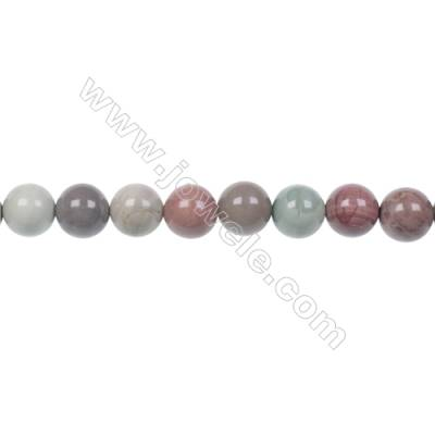 Multi-color 8mm round Imperial Jasper loose beads for Womens DIY Bracelets Necklace Making  hole 1mm  49 beads/ strand  15~16''