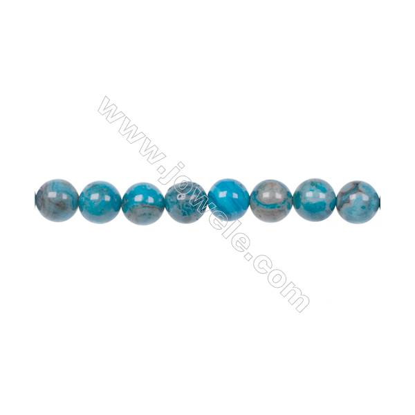 Natural Stone 8mm Blue Crazy Lace Agate Loose Spacer Beads For Jewelry Making hole 1 mm 48 beads/strand  15~16''