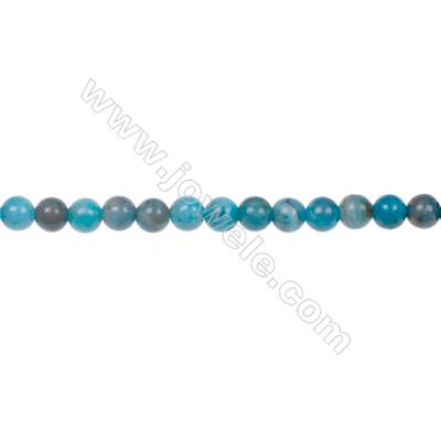 Blue Crazy Lace Agate Beads Strand  Round  Diameter 4mm  hole 0.8mm  101 beads/strand  15~16""