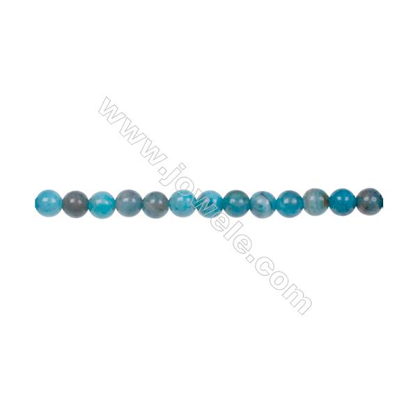 """Blue Crazy Lace Agate Beads Strand  Round  Diameter 4mm  hole 0.8mm  101 beads/strand  15~16"""""""
