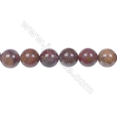 Agua Nueva Agate 10mm round strand beads earthy golds  browns and reds hole 1mm 40 beads/strand  15~16''