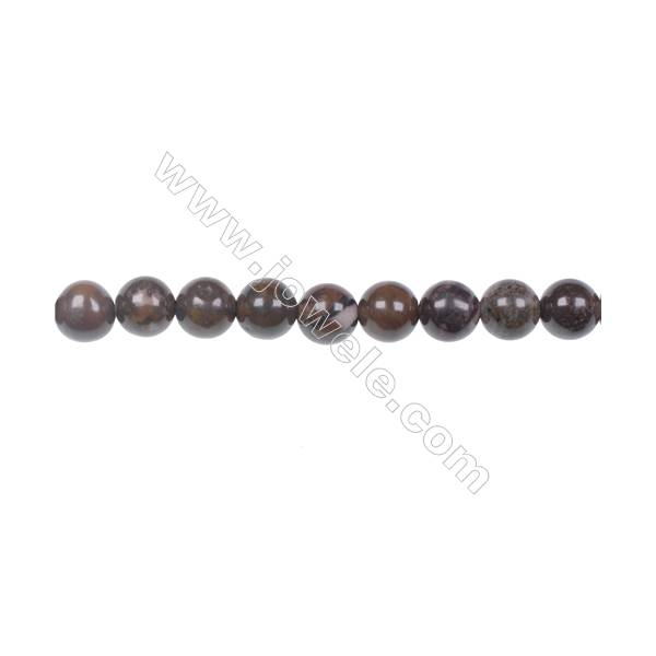 "Natural Outback Jasper gemstones round strand beads, Diameter 6mm, Hole 1mm, 67 beads/strand, 15~16"""