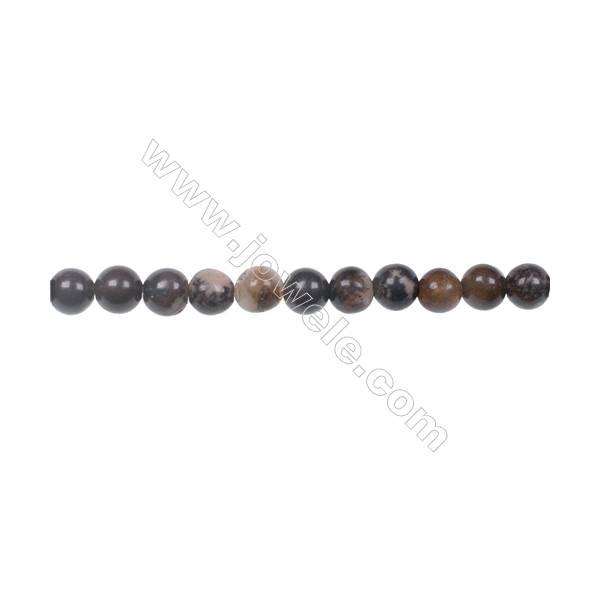 "Natural Outback Jasper gemstones round strand beads, Diameter 4mm, Hole 0.8mm, 99 beads/strand, 15~16"""
