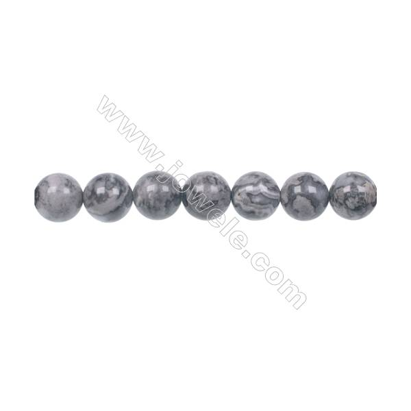 """Fashion Jewelry Silver Crazy Lace Agate Strand Beads, Round, Size 8mm, Hole 1mm, 50 beads/strand, 15~16"""""""