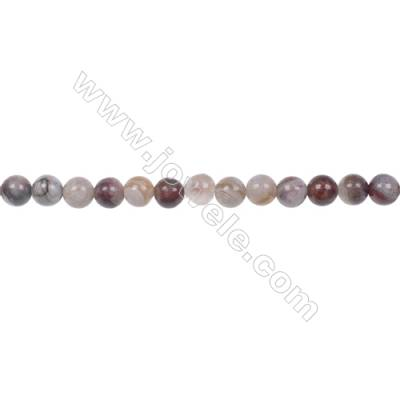 Wholesale 4mm laguna lace agate round beads hole 0.8mm  97 beads/strand  15~16''