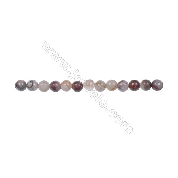 Wholesale 4mm laguna lace agate round beads hole 0.8mm  97 beads/strand  15~16''