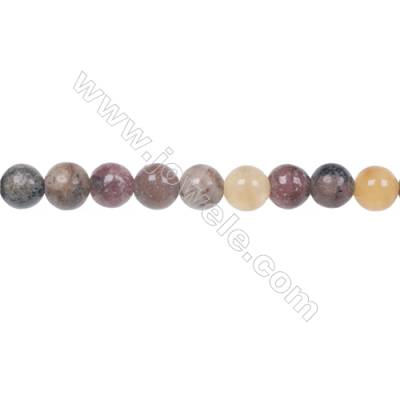 Fashion designer jewelry making DIY 6mm mixed gem stone beads for Bracelet  hole 1mm  70 beads/strand 15~16''