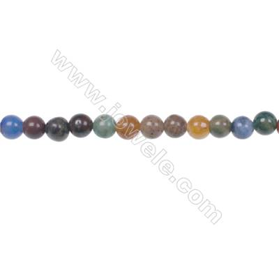 Fashion designer jewelry making DIY 4mm mixed gemstone beads for Bracelet  hole 0.8mm  97 beads/strand 15~16''