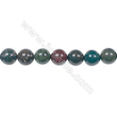 Factory price 10mm natural African blood stone gem round beads for jewelry making diy  hole 1mm  39 beads/strand  15~16''