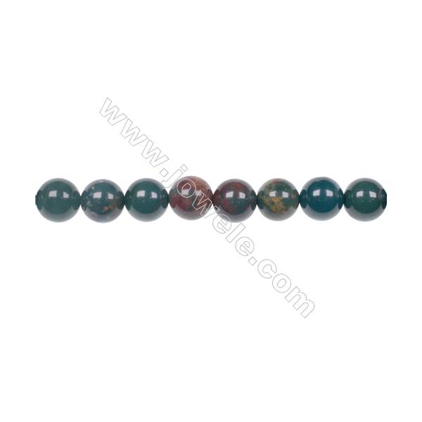 Factory price 8mm natural African blood stone gem round beads for jewelry  making diy hole 1mm 49 beads/strand 15~16''