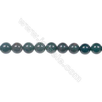 Factory price 6mm natural African blood stone gem round beads for jewelry making diy  hole 1mm  64 beads/strand  15~16''