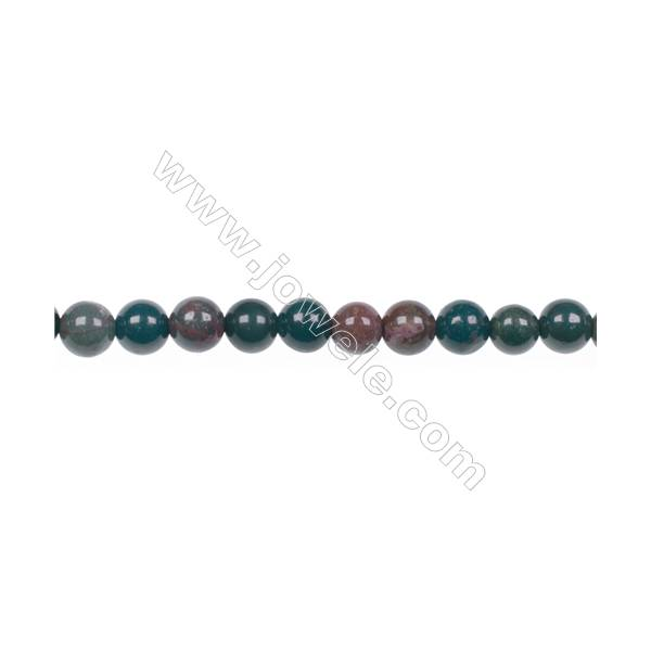 Factory price 4mm natural African blood stone gem round beads for jewelry  making diy hole 0 8mm 94 beads/strand 15~16''