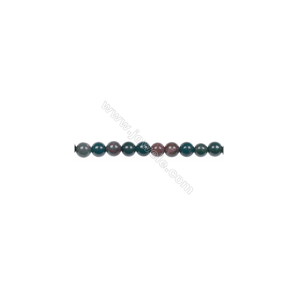 Factory price 4mm natural African blood stone gem round beads for jewelry making diy  hole 0.8mm  94 beads/strand  15~16''