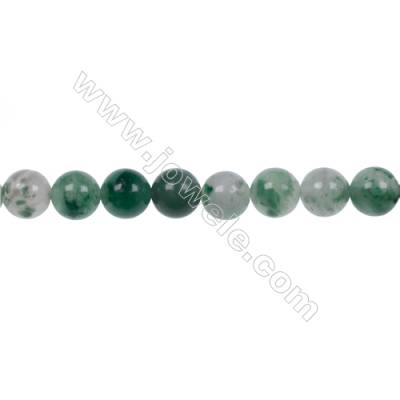 Wholesale jewelry making 8mm green chalcedony stone agate strand beads hole 1mm  50 beads/strand  15~16''