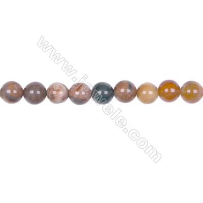 8mm Mat Wood Opalite Round beads loose beads for jewelry making diy  hole 1mm  48 beads/strand  15~16''