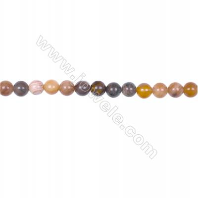 6mm Mat Wood Opalite Round beads loose beads for jewelry making diy  hole 1mm  64 beads/strand  15~16''