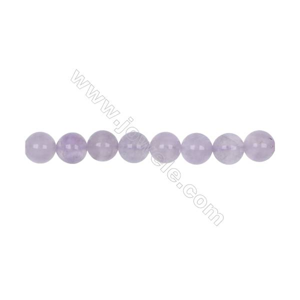 Natural 10mm purple Jade beads beads for Jewelry making  hole 1mm  41 beads/strand 15~16''