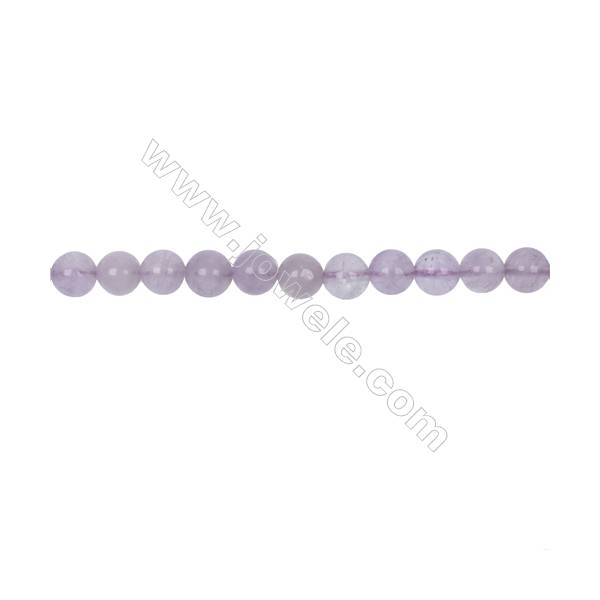 Natural 8mm Purple Jade beads for Jewelry making  hole 1mm  54 beads/strand 15~16''