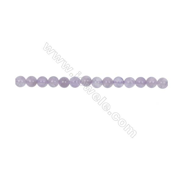 Natural 6mm Purple Jade beads for Jewelry making  hole 1mm  67 beads/strand 15~16''