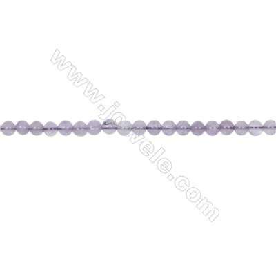 Natural 4mm purple Jade beads for Jewelry making  hole  0.8mm  94 beads/strand 15~16''