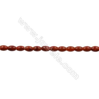 """Sponge Coral Beads Strand  Rice  7x10.5mm  Hole 0.7mm  about 38 beads/strand  15-16"""""""