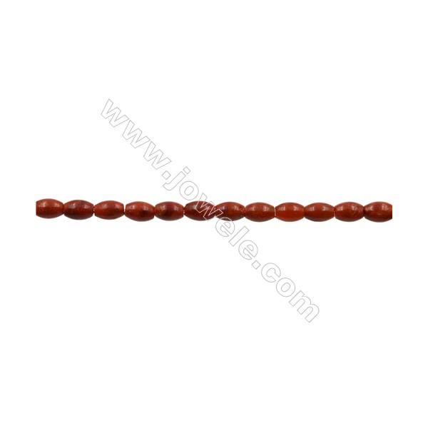 Sponge Coral Beads Strand  Rice  7x10.5mm  Hole 0.7mm  about 38 beads/strand  15-16""