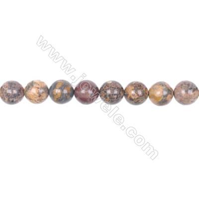 "10mm leopard skin jasper stone loose beads  hole 1mm  40 beads/strand  15~16"""