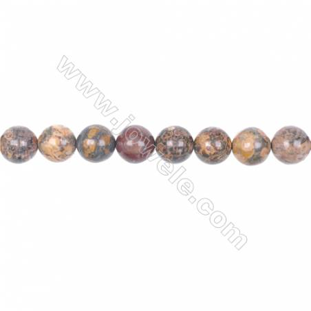 10mm leopard skin jasper stone loose beads  hole 1mm  40 beads/strand  15~16""