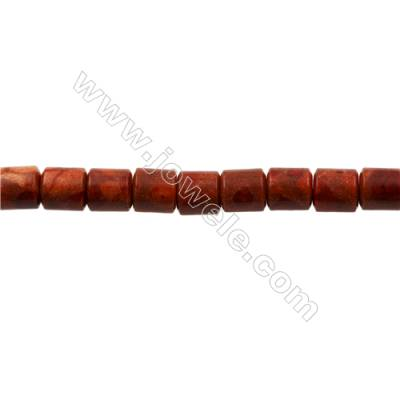 Sponge Coral Beads Strand  Barrel  14x15mm  Hole 1mm  about 27 beads/strand  15-16""