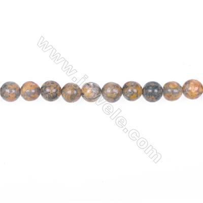 "8mm leopard skin jasper stone loose beads  hole 1mm  51 beads/strand  15~16"""