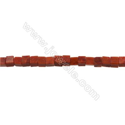 Sponge Coral Beads Strand  Square  7.5x7.5mm  Hole 0.7mm  about 54 beads/strand  15-16""