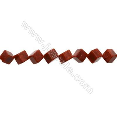 Sponge Coral Beads Strand  Cube  10x10x10mm  Hole 0.8mm  about 27 beads/strand  15-16""