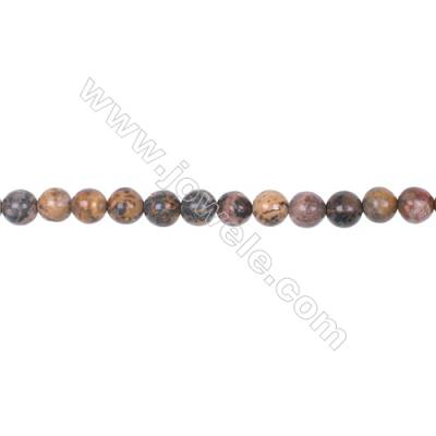 6mm leopard skin jasper stone loose beads  hole 1mm  64 beads/strand  15~16""