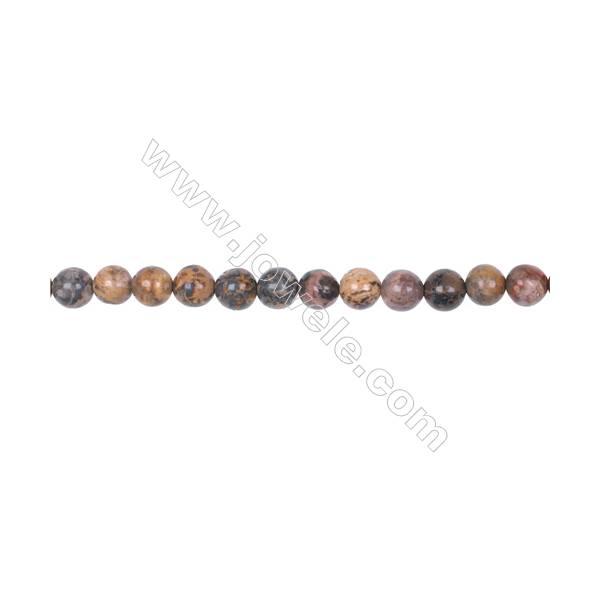 "6mm leopard skin jasper stone loose beads  hole 1mm  64 beads/strand  15~16"""