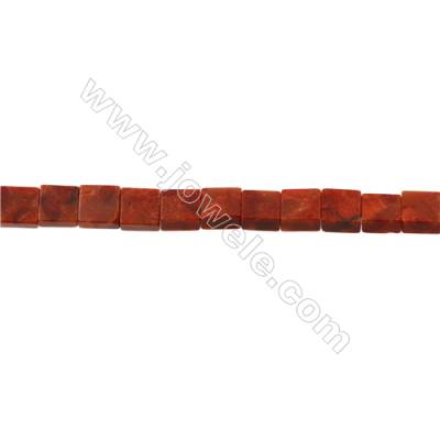 Sponge Coral Beads Strand  Square  10x10mm  Hole 0.7mm  Thick 5mm  about 40 beads/strand  15-16""