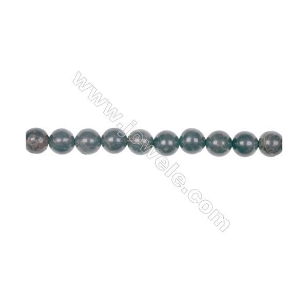 Natural 8mm golden black obsidian gemstone strand beads hole diameter 1mm  49 beads/strand 15~16''