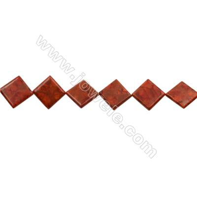 Sponge Coral Beads Strand  Rhombus  45x45mm  Hole 0.8mm  Thick 6.5mm  about 10 beads/strand  15-16""