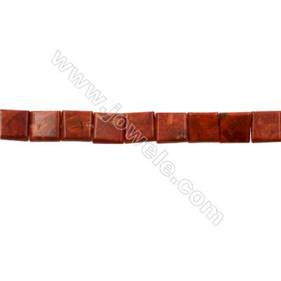 Sponge Coral Beads Strand  Square  20x20mm  Hole 1mm  Thick 6mm  about 20 beads/strand  15-16""