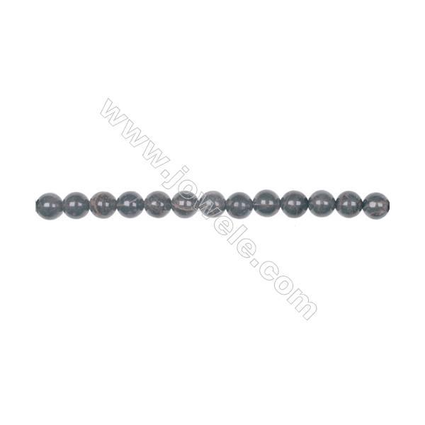 Natural 6mm golden black obsidian gemstone loose beads hole diameter 1mm  67 beads/strand 15~16''