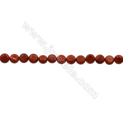 Sponge Coral Beads Strand  Flat Round  10mm  Thick 6mm  Hole 0.7mm  about 40 beads/strand  15-16""