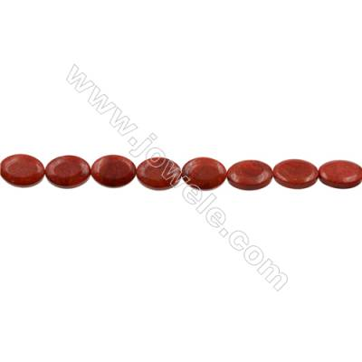 Sponge Coral Beads Strand  Oval  13x18mm  Hole 0.8mm  Thick 6mm  about 22 beads/strand  15-16""